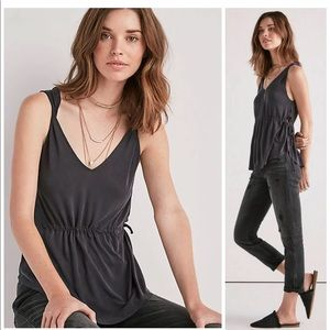 LUCKY BRAND SIDE CUTOUT SANDWASH SLEEVELESS TOP